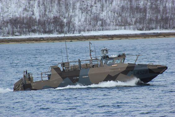 KNM Malmøya (L4528) på prøvekjøring etter at den fikk nye motorer og fjernstyrt våpenstasjon.