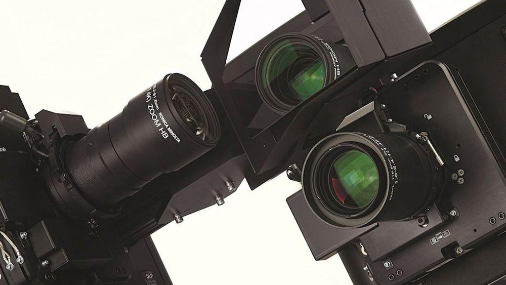 Christies 6P-3D-laserprojektor gjør det mulig å vise 3D-video med høy lysstyrke. Systemet består av to projektorer som viser to bilder samtidig.