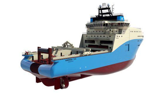 Maersk-fartøyene skal ha en vinsj på 500 tonn og er designet for dypvannsoperasjoner.