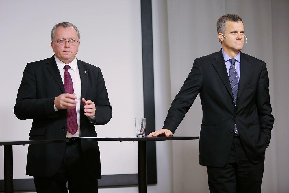 En stolt Helge Lund takket i dag for seg etter ti år i sjefsstolen i Statoil. Den midlertidige etterfølgeren Eldar Sætre har store sko å fylle, men sier han skal videreføre mye av Lunds arbeid.