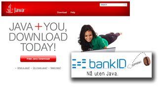 Den første banken er klar med Java-fri innlogging