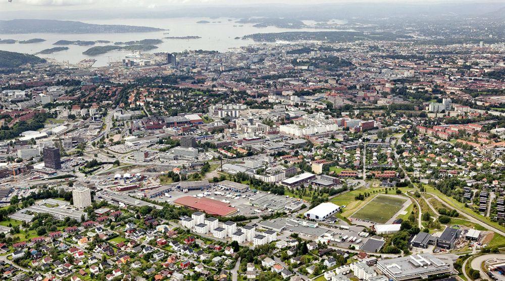I løpet av ti år regner Oslo kommune med at innbyggertallet i Hovinbyen i Oslo vil mer enn dobles.
