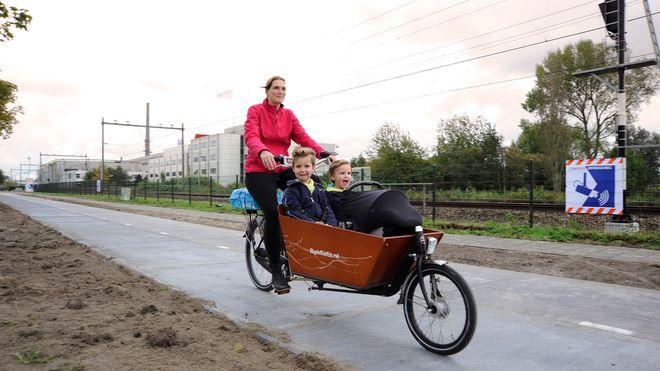Denne sykkelveien produserer strøm