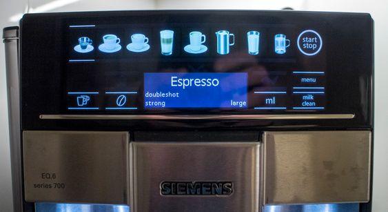 Valgfrihet: Panelet hvor du velger drikk, mengde, styrke og rens av melkesystemet gjør maskinen enkel i bruk. Automatikken overgår alt vi har prøvd til nå.