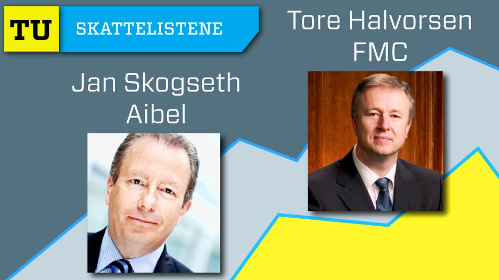 Tore Halvorsen i FMC og Jan Skogseth i Aibel hadde begge over 39 millioner kroner i inntekt i fjor.