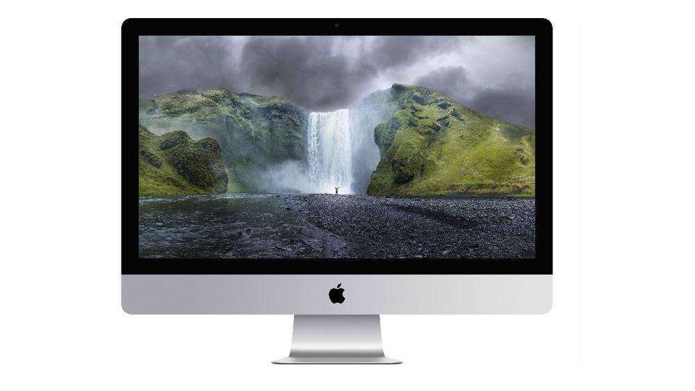 Apple skryter uhemmet av skjermen på sin nye iMac.