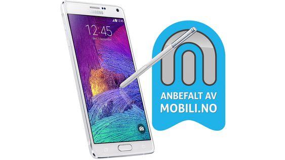 Vi anbefaler Samsung Galaxy Note 4