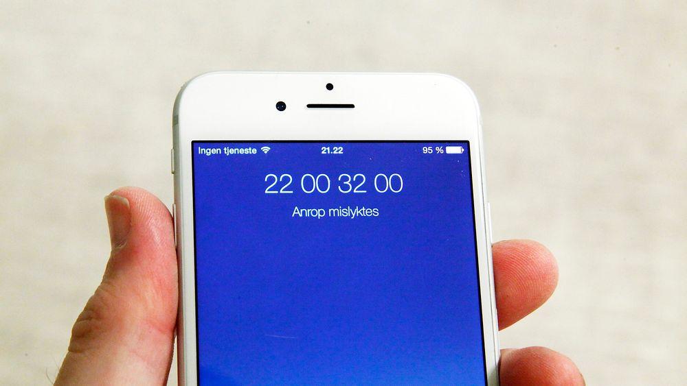 Telenor-kunder over hele landet kunne verken ringe eller sende SMS i to timer torsdag kveld.