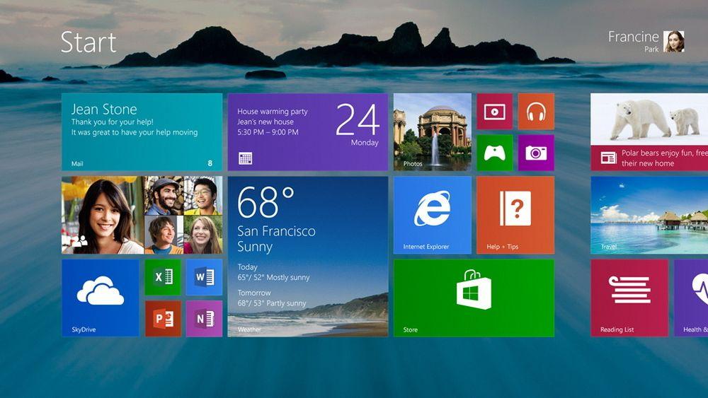 Litt av det gamle: Ikke at det gjør den store forskjellen, men i Windows 8.1 kan man ha samme bakgrunn på skrivebordet og i Modern UI.
