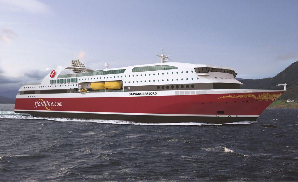 Fjord Lines nye gassdrevne passasjerferge vant pris for energieffektivitet under Nor-Shipping Awards.