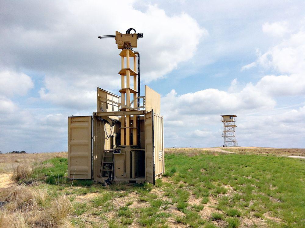 Fjernstyrt: 20 slike ubemannede vakttårn skal utplasseres og testes i Afghanistan i sommer. Foto: KPS