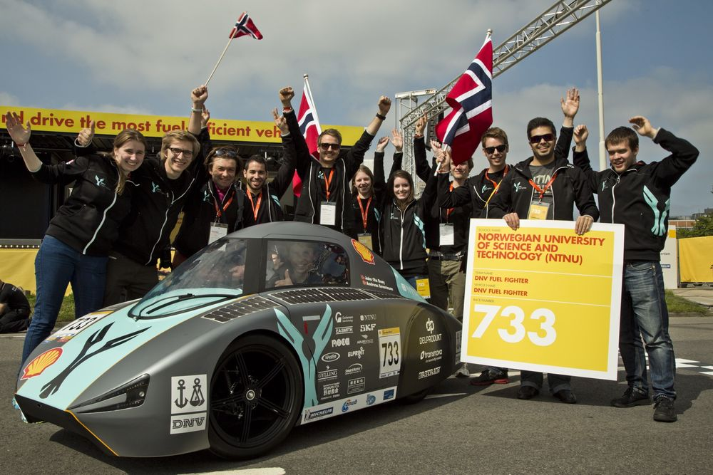 NTNUs Fuel Fighter tok tredjeplass i Urban Concept-klassen i Shell Eco-marathon.