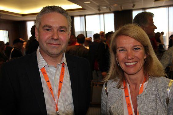 Leder an: Direktør Jan Soppeland og ordfører Christine Sagen Helgø leder Stavangers rekordstore delegasjon til OTC i Houston.