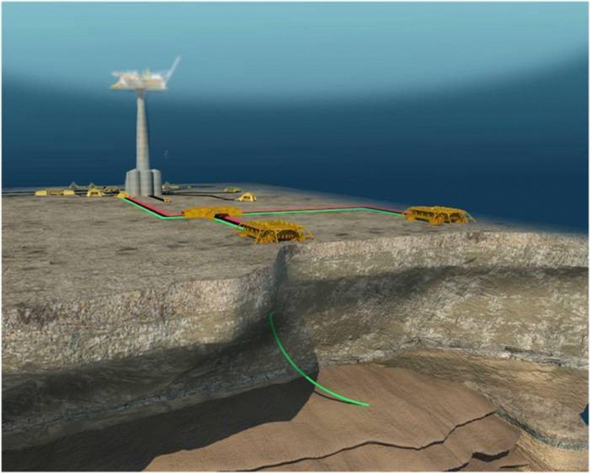 Viktig prosjekt: Linnorm er et av feltene som er ment å betale for rørledningen Polarled. Nå står prosjektet i fare.