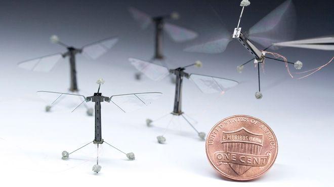 Se verdens minste robot-bie på vingene