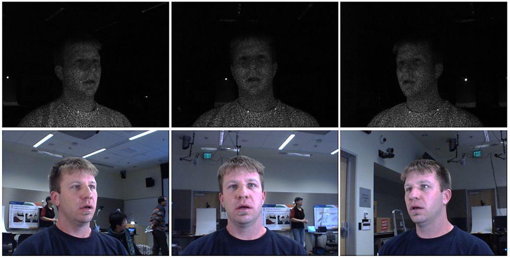 Fanger mange bilder: Kameraene tar mange bilder av hver deltaker i flere ulike spekter.