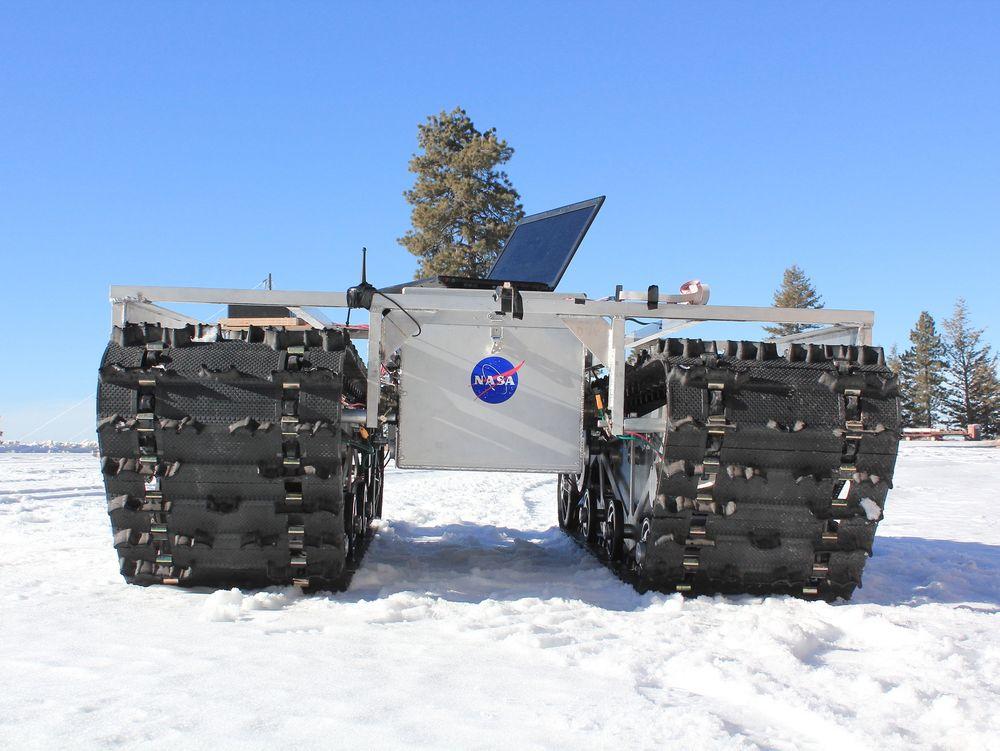 Her er roveren under testing i et skisenter i USA.
