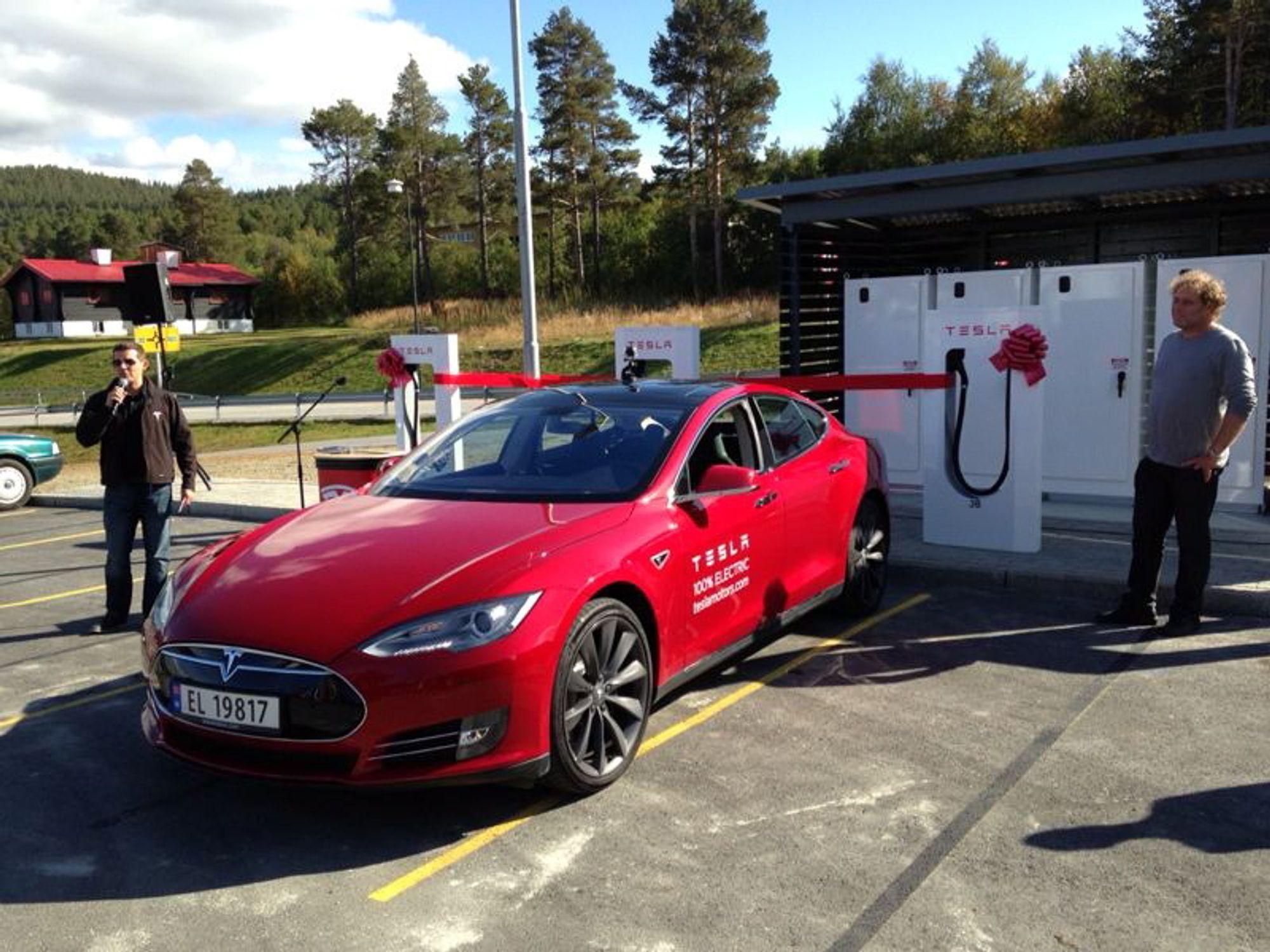 Her kommer superladerne til Tesla Tu.no
