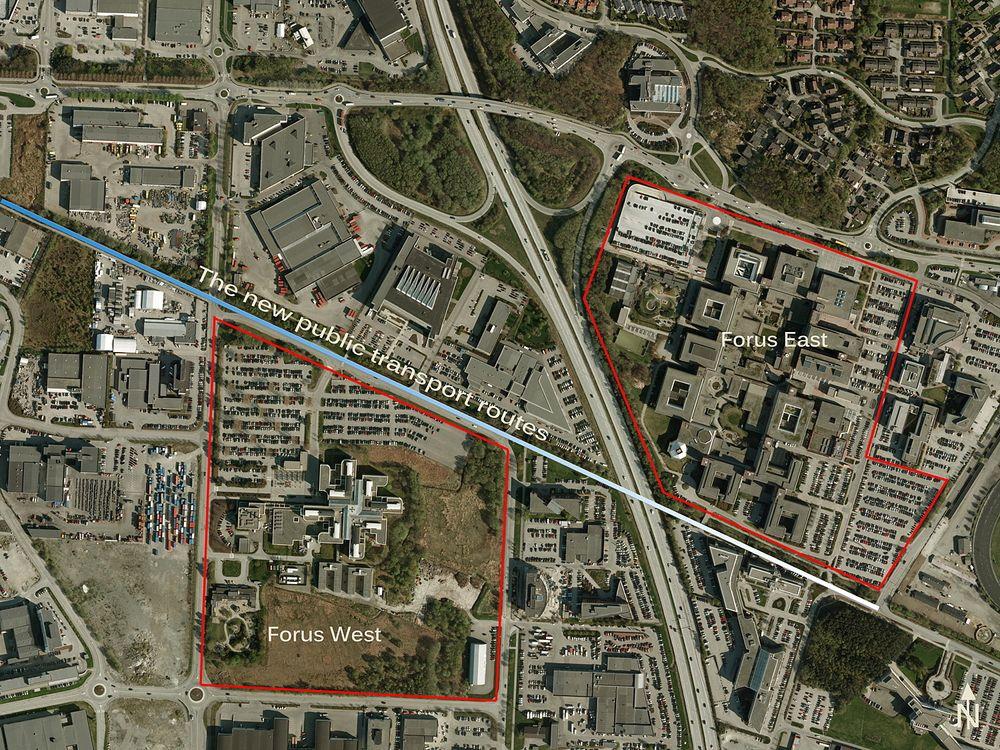 På Forus Vest-tomten vil Statoil bygge et nytt kontorbygg med plass til 3500 mennesker.