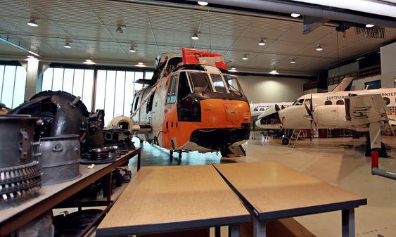Redningshelikopteret som havarerte ved Bodø i 1986 benyttes i dag her på Luftforsvarets skolesenter på Kjevik.