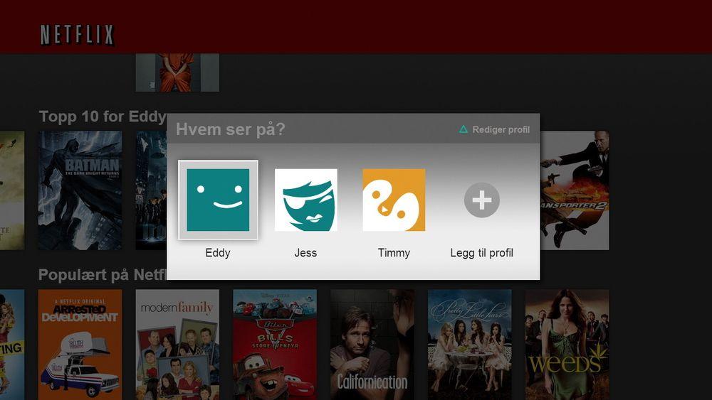 Netflix lar deg nå velge hvem som faktisk ser på, slik at du får anbefalinger basert på hva akkurat du har sett, ikke de andre i husholdningen.