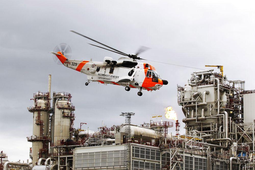 Terrorøvelse: Forsvaret og norsk politi har hatt flere terrorøvelser ved norske gassinstallasjoner. Her fra øvelsen Gemini 2011 ved Statoils LNG-anlegg på Melkøya i Finnmark. Foto: Torbjørn Kjosvold