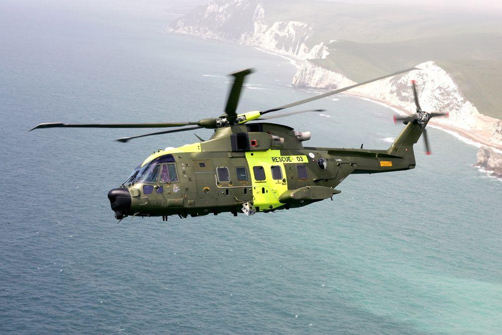 Dansk-sar: Agusta Westland håper Norge gjør som danskene, bytter ut Sea King med AW101.  Foto: Agusta Westland