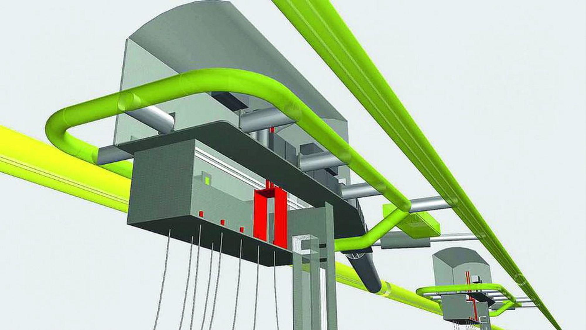 Acona, som har vært involvert i tunnelprosjektet tidligere, har skissert konseptet slik: To tunneler går parallelt på hver side av produksjonsfjellhallene.