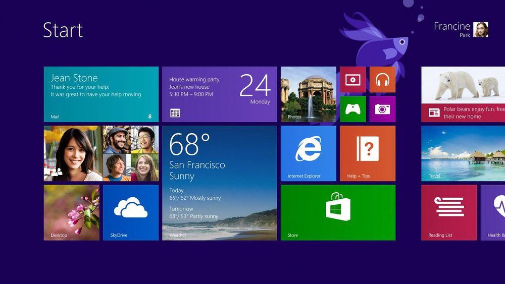 Gratis oppgradering: Gladmelding til alle Win 8-brukere: Windows 8.1 blir en gratis oppgradering.