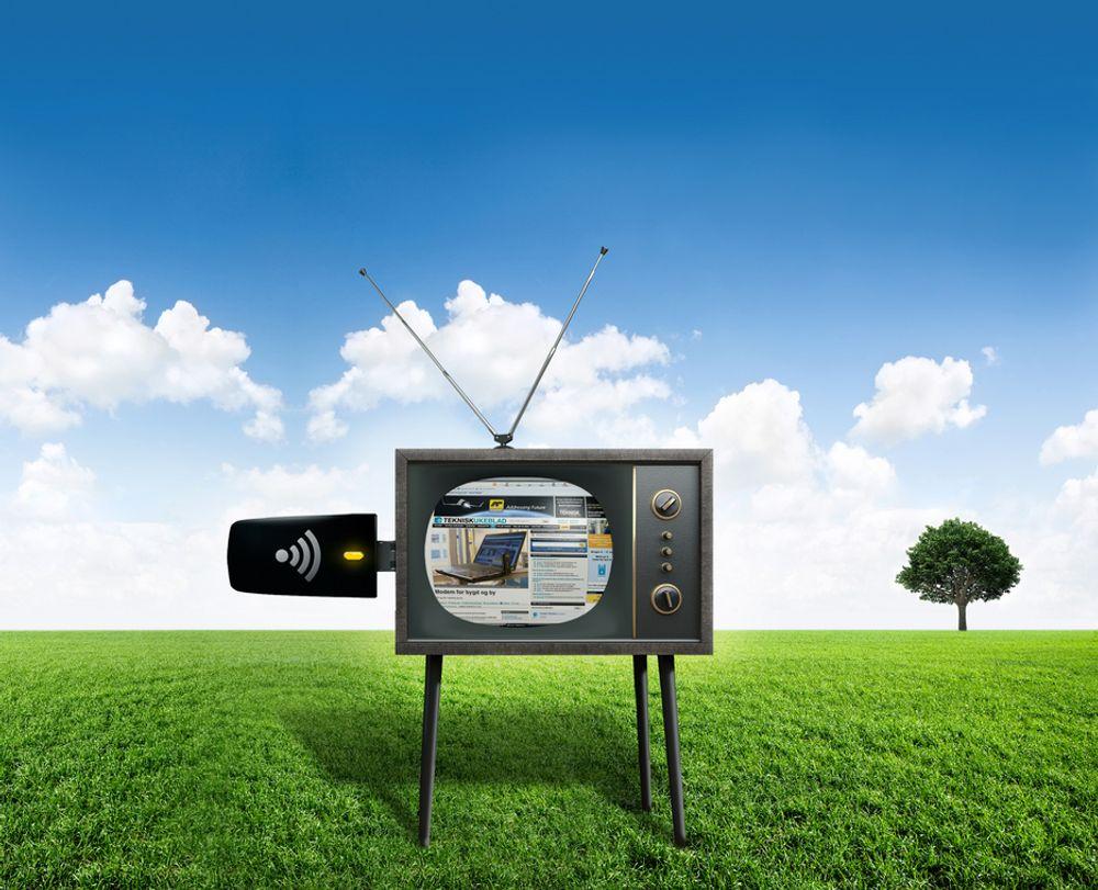 PÅ BØLGELENGDE: Frekvensene som tidligere kringkastet analog-TV, skal nå brukes til å lese tu.no. Nå har staten lagt fram vilkårene for det som vil bli en saftig budkamp i telebransjen.