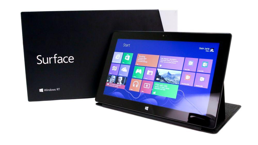 """Microsoft Surface RT er et nettbrett med """"visse PC-funksjoner"""", ifølge Microsoft."""