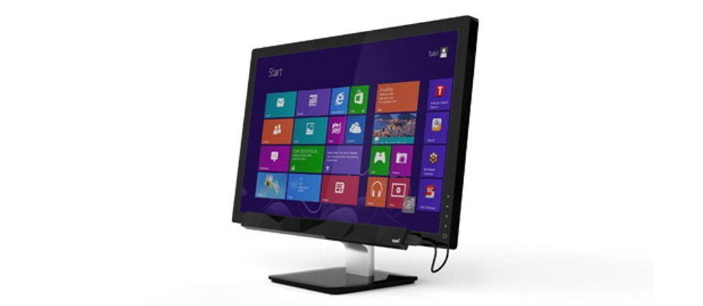 Systemet består av en slags list med infrarøde sensorer som festes i underkant av skjermen.
