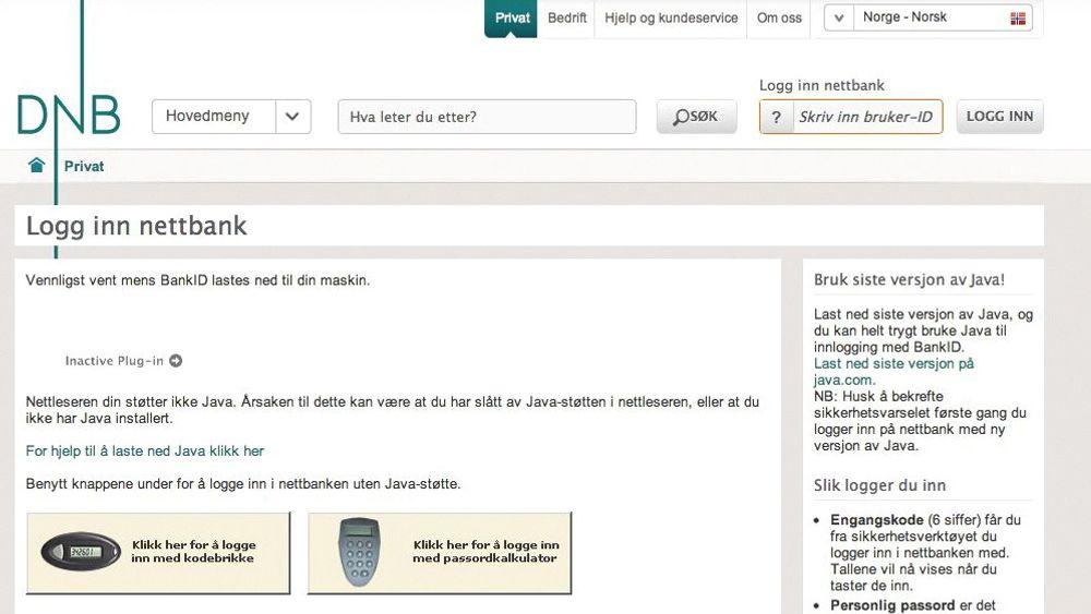 Vi fikk denne meldingen da vi forsøkte å bruke Bankid i både Google Chrome, Firefox og Safari.