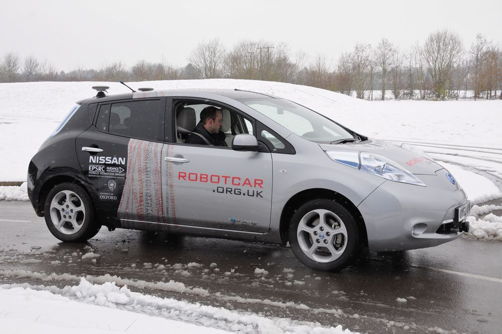 Denne autonome bilen er basert på en modifisert Nissan Leaf.