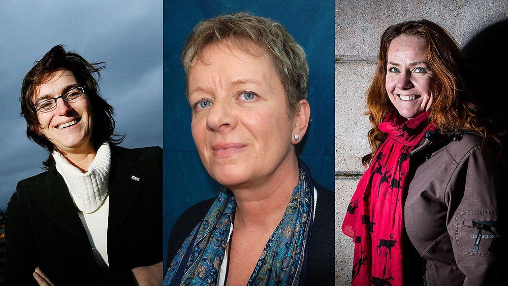 Ellen Hambro (f.v.), Janne Sollie og Heidi Sørensen er alle blant søkerne til jobben som direktør i Miljødirektoratet.