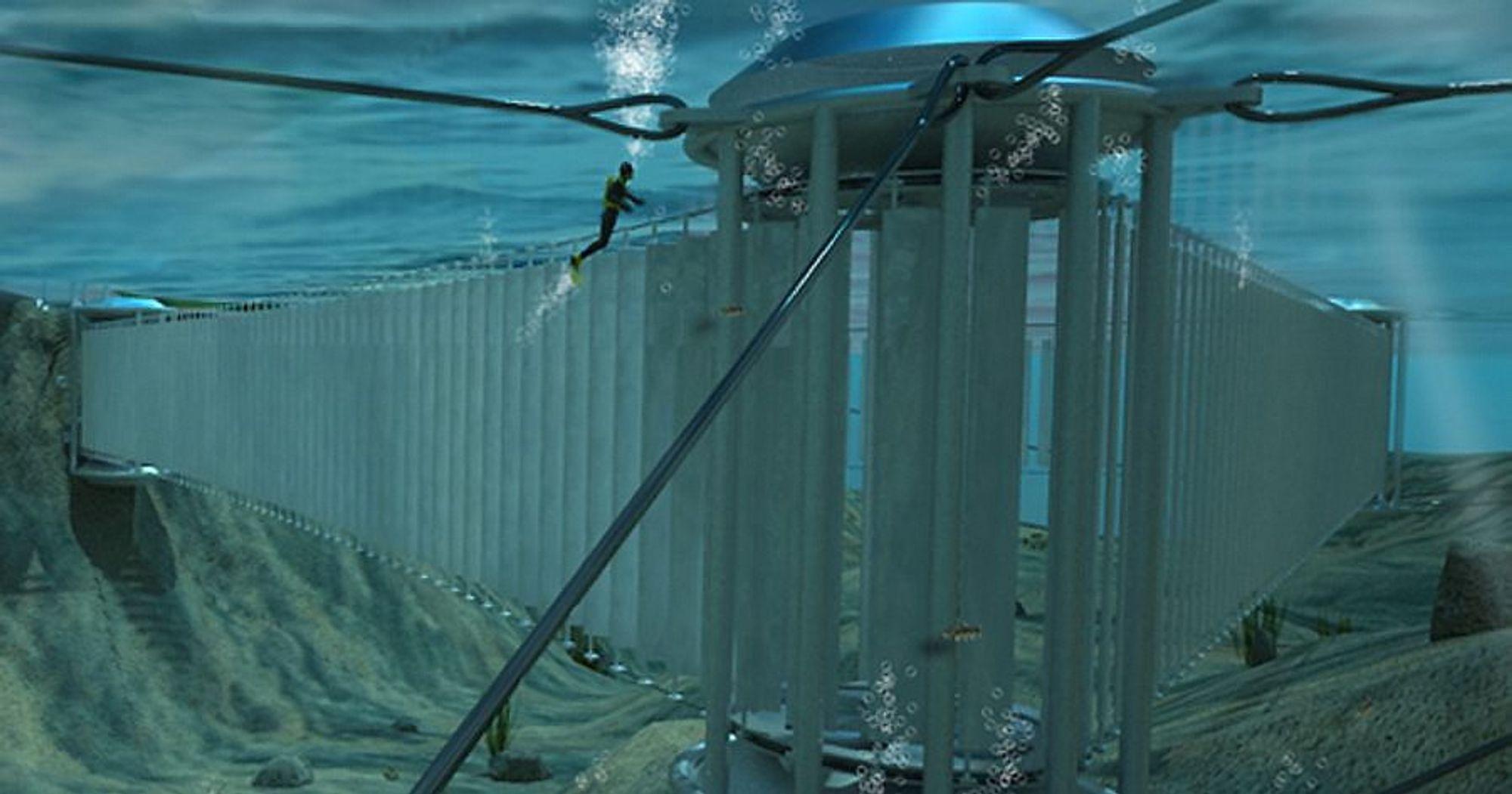 Tidal Sails skal bygge et tidevannskraftverk som består av 500 komposittseil.