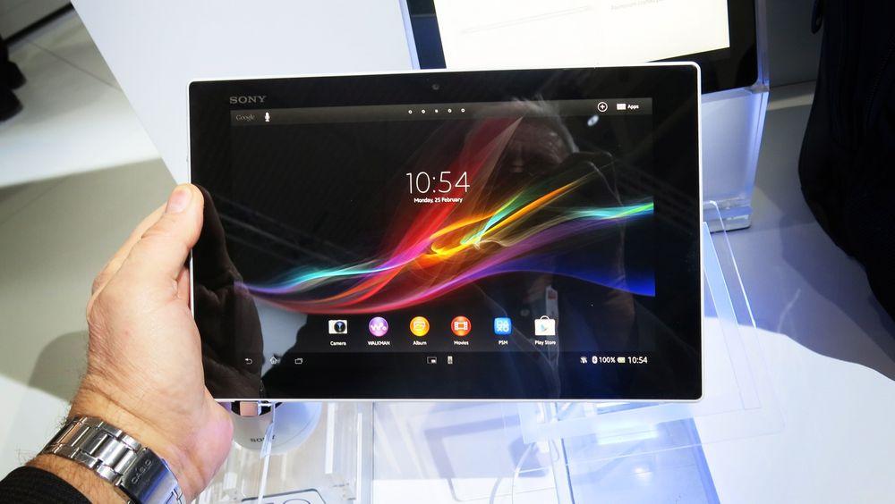 Sony Xperia Tablet Z veier bare 495 gram og kommer med full HD-skjerm, NFC og mulighet for 4G.