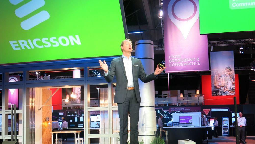 Optimistisk: Sjefen for telegiganten Ericsson, Hans Vestberg, vil samarbeide med tyske SAP for å bygge fundamentet for alle de trillioner av transaksjoner som skal flyte i nettverkene om noen år.