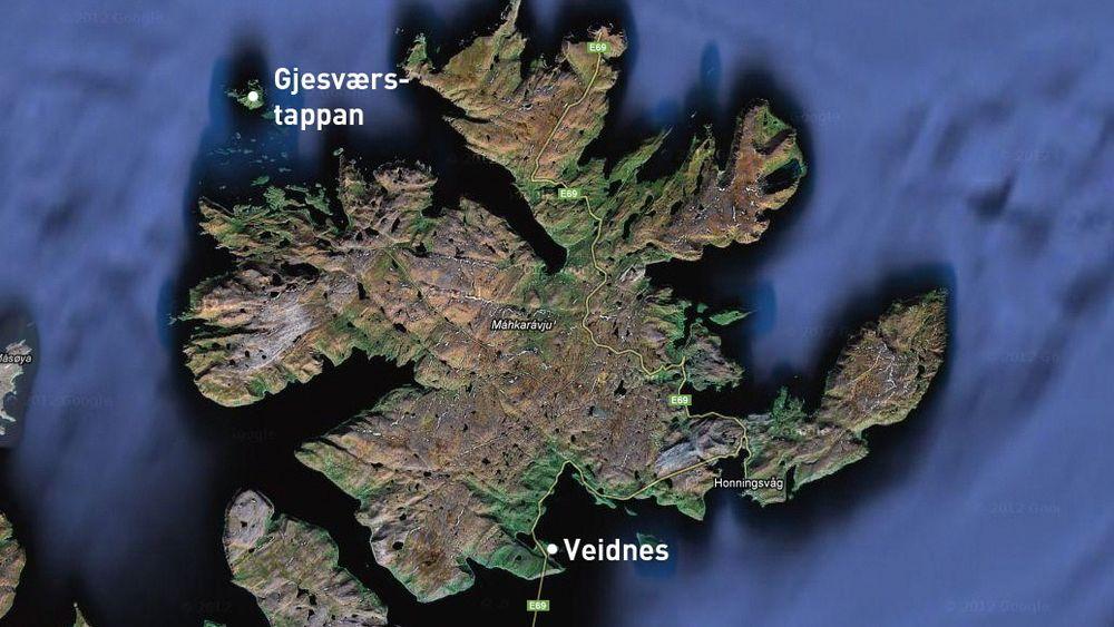 Nært: Landanlegget til Skrugard ligger nært Norges største fuglefjell. Skrugard ligger nordvest for Gjesværstappan.