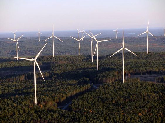 Når Jädraås vindkraftpark står ferdig, blir den en av Europas største landbaserte vindkraftparker.