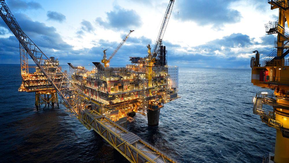 Bevilgningene til oljeforskning i Norge har stagnert. Her feltsenteret på Oseberg.