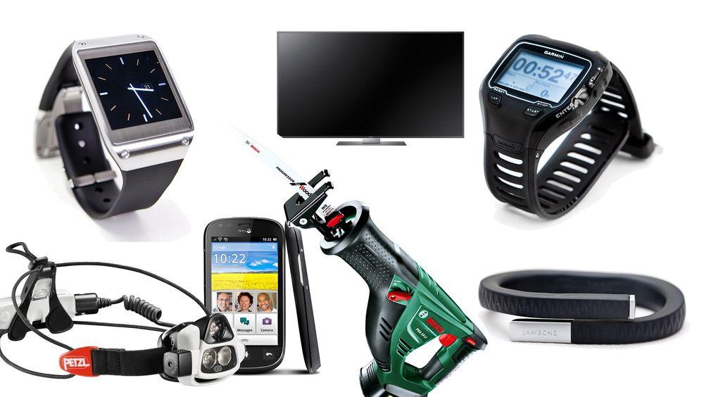 Noen av produktene i Teknisk Ukeblads julegavetips for 2013.