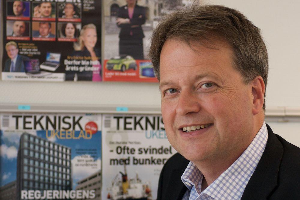 NY DIREKTØR: Jan M. Moberg er ansatt som ny administrerende direktør i Teknisk Ukeblad, og tiltrer 12. oktober.