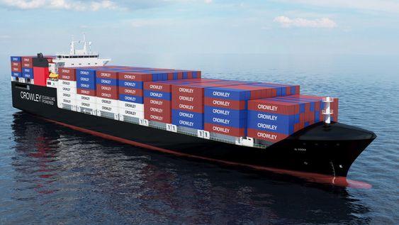 USA PÅ LNG: To amerikanske rederier har bestilt containerskip som skal bruke LNG til framdrift. Sist ute er Crowley som har bestilt design og motorer fra Wärtsilä, slått av Tote. De velger hver sine motorløsninger.