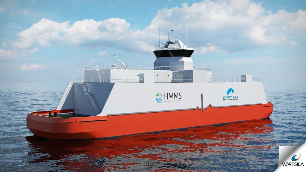 Miljøkraft: HMMS utvikler dette 14 MW-kraftverksskipet (EPS) med Bergen i tankene. Ved å forsyne to cruiseskip eller 10 offshorefartøy med strøm, kan byen spare utslipp tilsvarende 50.000 biler.