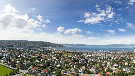Trondheim: Gigapikselbilde tatt fra restauranten i Tyholttårnet. Foto: Eirik Helland Urke