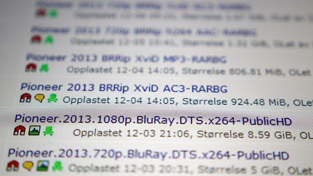 Kort tid etter at den norske filmen «Pionér» var i salg som bluray og DVD i desember, var filmen tilgjengelig på Pirate Bay.