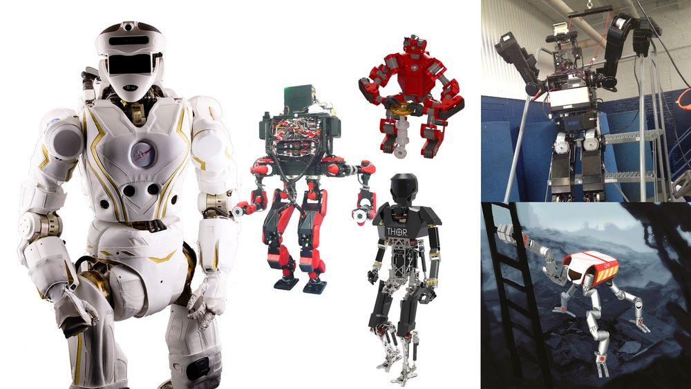 Seks roboter skal gjennom krevende prøvelser under Darpa Robotics Challenge i håp om å få innpass hos det amerikanske forsvar.