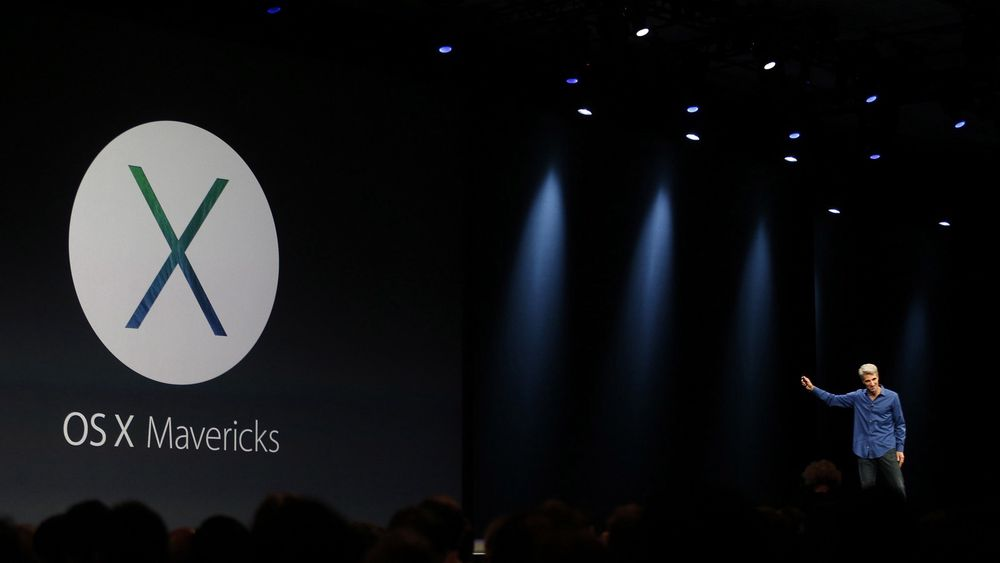 Apples softwaresjef Craig Federighi presenterer nye Mac OS X på Apples utviklerkonferanse WWDC mandag.