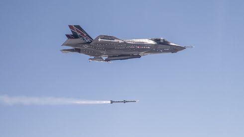 Her skytes missil fra F-35-buken